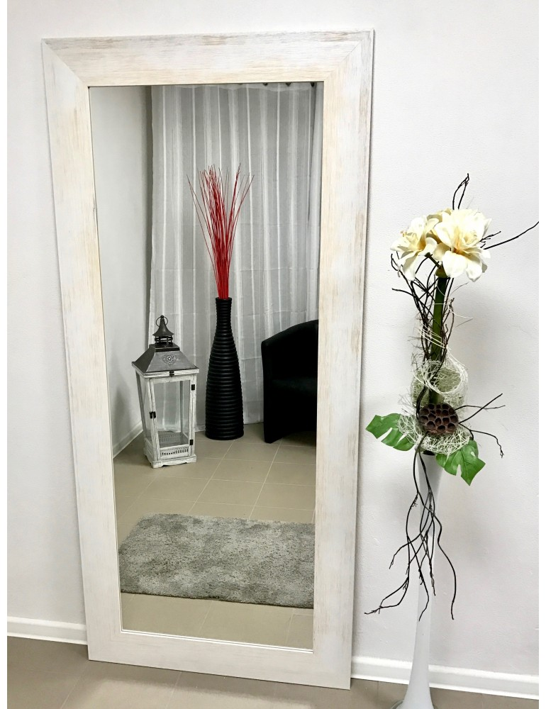 d976c75ce Dizajnové biele zrkadlo na stenu VENEZIA  Eshop ORO