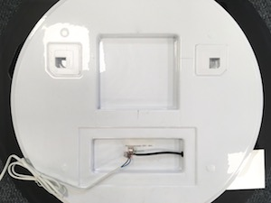 Montáž led zrkadla krok 1. ilustrácia.