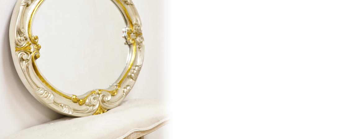 Luxusné talianske zrkadlá na stenu